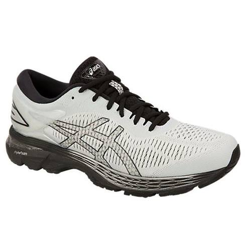 Asics Gel Kayano 25 Men's Running Shoe Wide 4E Glacier Grey, Black 1011A023 021