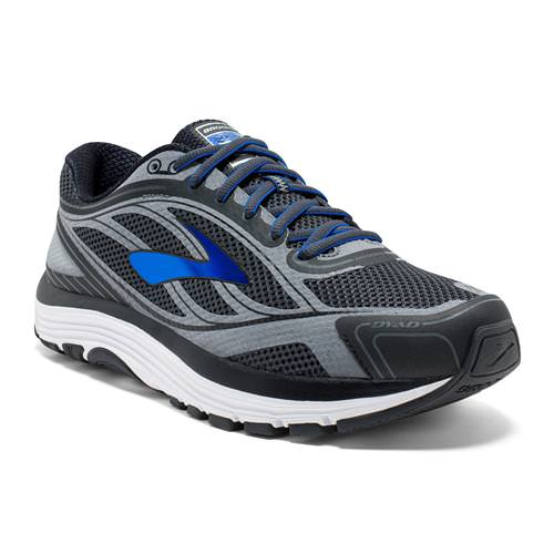 Brooks Dyad 9 Men's Wide 4E Running Asphalt, Electric Brooks, Black 1102314E038