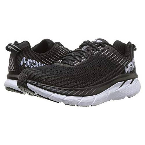 Hoka One One Clifton 5 Women's Wide D Black, White 1093758 BWHT