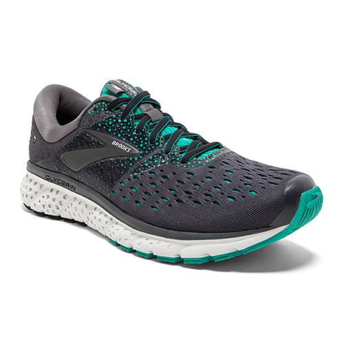 Brooks Glycerin 16 Women's Running Ebony, Green, Black 1202781B081