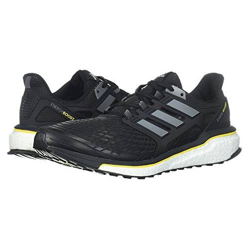 Adidas Energy Boost Men's Running Shoes Black, Night Metallic, Vivid Yellow CQ1762