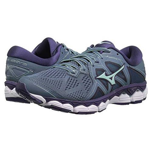 Mizuno Wave Sky 2 Women's Running Blue Mirage, Purple Plumeria 410996.BM6Z