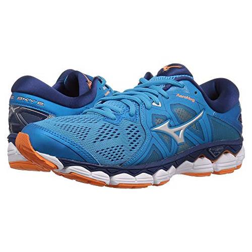 Mizuno Wave Sky 2 Women's Running Blue Hawaiian Ocean, Birds Of Paradise 410996.5622