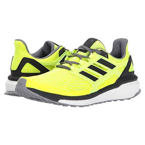 Adidas Energy Boost Men's Running Shoes Solar Yellow, Core Black, Grey Four BB3455