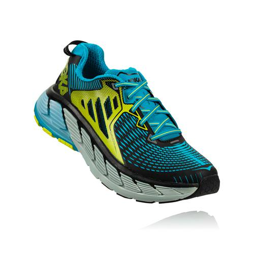 Hoka One One Gaviota Men's Black, Caribbean Sea 1016301 BCNS