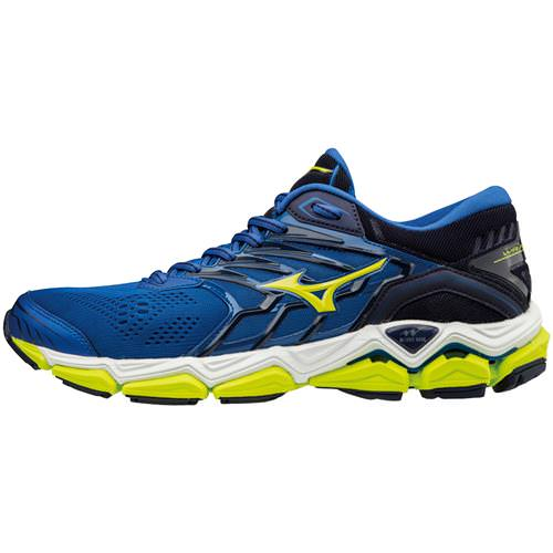 Mizuno Wave Horizon 2 Men's Running Surf the Web, Lime Punch 410981.5E4I