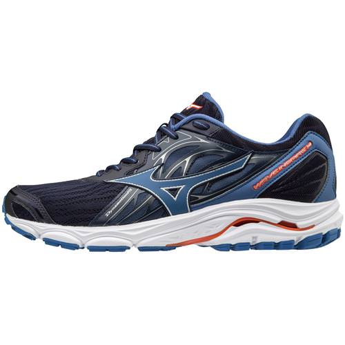 Mizuno Wave Inspire 14 Men's Running Shoes Evening Blue, Cherry Tomato 410983.5V1T