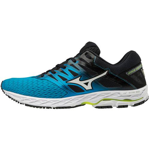 Mizuno Wave Shadow 2 Men's Running Blue Jewel, Safety Yellow 410999.BJ3E
