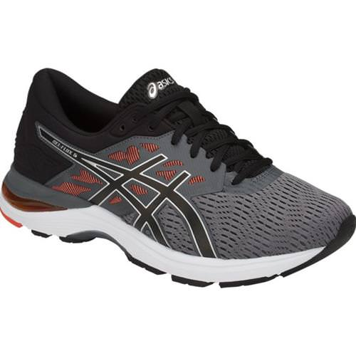 Asics GEL-Flux 5 Men's Running Carbon, Black, Cherry Tomato T811N 9790
