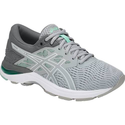 Asics GEL Flux 5 Women's Running Shoe Mid Grey, White, Opal Green T861N 9601