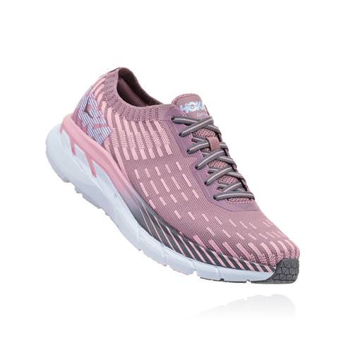 Hoka One One Clifton 5 Knit Women's Cameo, Pink Toadstool 1094310 CPTT