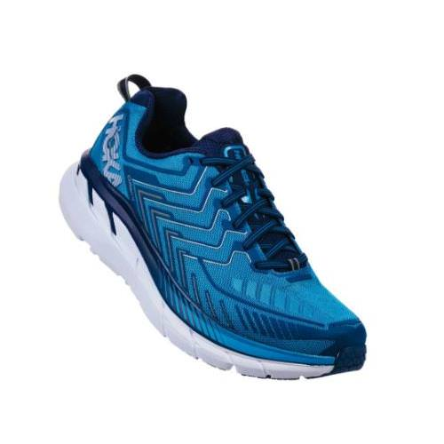Hoka One One Clifton 4 Men's Wide EE Diva Blue, True Blue 1016779 DBTBL