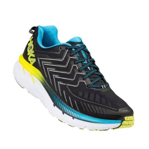 Hoka One One Clifton 4 Men's Black, Cyan, Citrus 1016723 BCCT