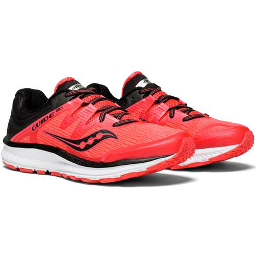 Saucony Guide ISO Women's Running Shoe ViZiRed, Black S10415-2