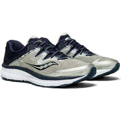 Saucony Guide ISO Men's Wide 2E Running Shoe Grey, Navy S20416-1
