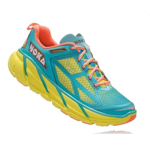 Hoka One One Clifton 1 Women's Acid, Aqua, Neon, Coral 1101944 AANCR