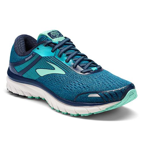 Brooks Adrenaline GTS 18 Women's Running Wide D Navy, Teal, Mint 1202681D495