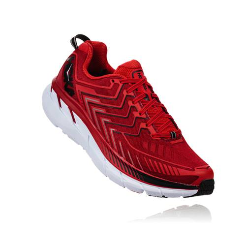 Hoka One One Clifton 4 Men's Haute Red, High Risk Red 1016723 HRHRR