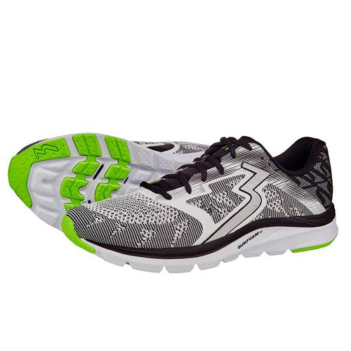 361 Degrees Spinject Men's Running Shoes White, Black Y804-0009