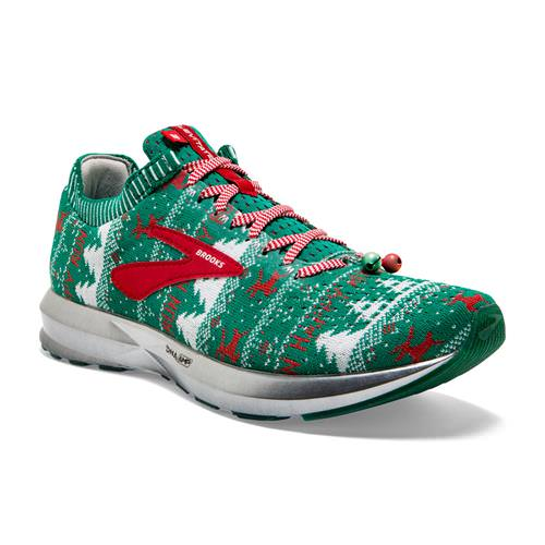 Brooks Levitate 2 Women's Ugly Christmas Sweater Running Green, White, Red 1202791B322