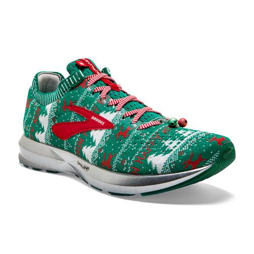 Brooks Levitate 2 Men's Ugly Sweater Running Green, White, Red 1102901D322