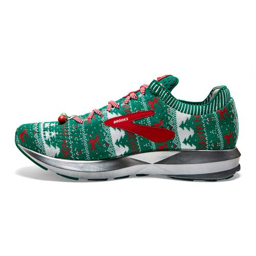 3a580084242 Brooks Levitate 2 Men s Ugly Christmas Sweater Running Green