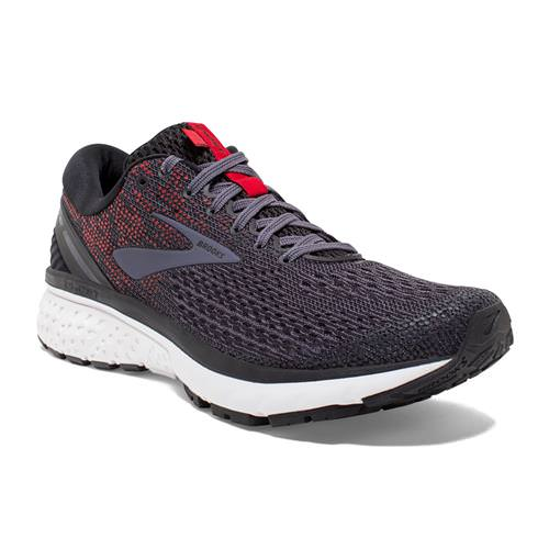 Brooks Ghost 11 Men's Running Black, Greystone, Cherry 1102881D038