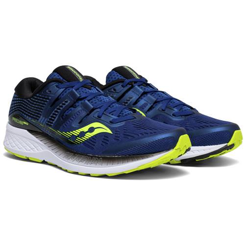 Saucony Ride ISO Men's Running Navy, Citron S20444-4