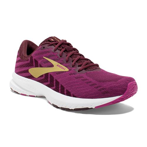 Brooks Launch 6 Women's Running Aster, Fig, Gold 1202851B553