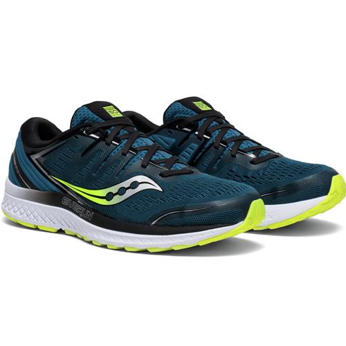 Saucony Guide ISO 2 Men's Running Marine, Citron S20464-2