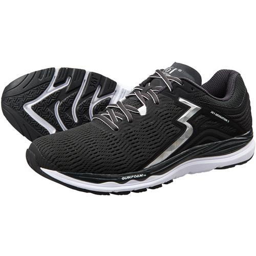361 Degrees Sensation 3 Men's Running Shoes Black, Silver Y802-0903