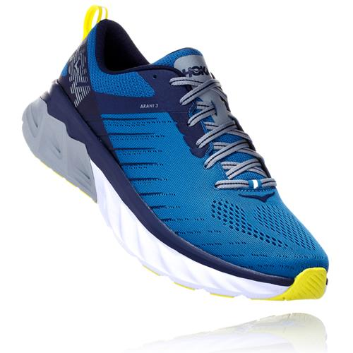 Hoka One One Arahi 3 Men's Wide EE Blue Sapphire, Mood Indigo 1104098 BSMI
