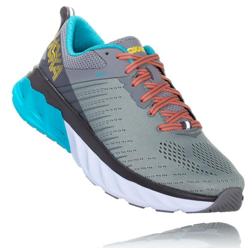 Hoka One One Arahi 3 Women's Wide D Frost Gray, Scuba Blue 1104100 FGSB