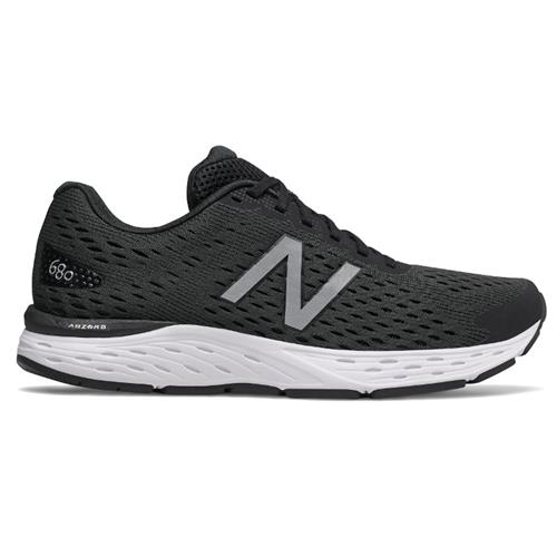 New Balance 680v6 Wide 4E Men's Black, Metallic Silver M680LK6