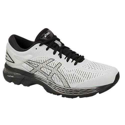Asics Gel Kayano 25 Men's Running Shoe Wide 2E Glacier Grey, Black 1011A029 021