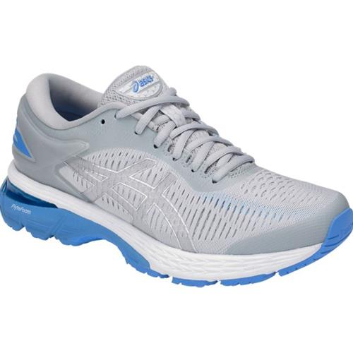 Asics Gel Kayano 25 Women's Running Shoe Mid Grey, Blue Coast 1012A026 022