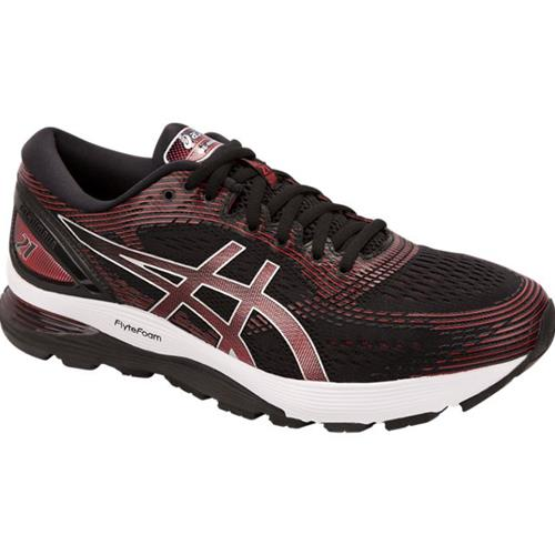 Asics Gel Nimbus 21 Men's Running Shoe Black, Classic Red 1011A169 002