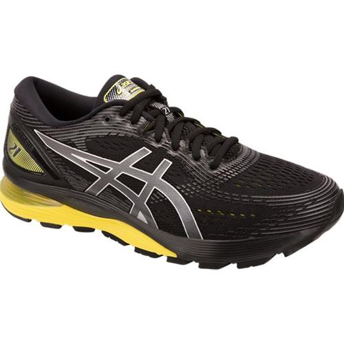 Asics Gel Nimbus 21 Men's Running Shoe Black, Lemon Spark 1011A169 003