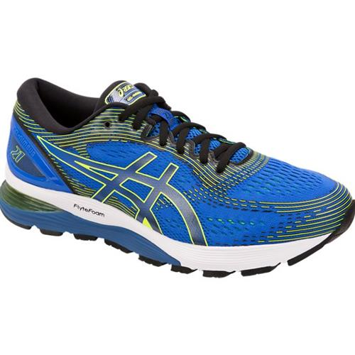 Asics Gel Nimbus 21 Men's Running Shoe Illusion Blue, Black 1011A169 400