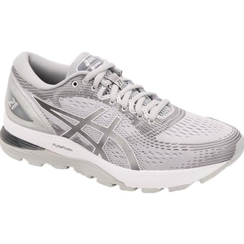 Asics Gel Nimbus 21 Women's Running Shoe Mid Grey, Silver 1012A156 020