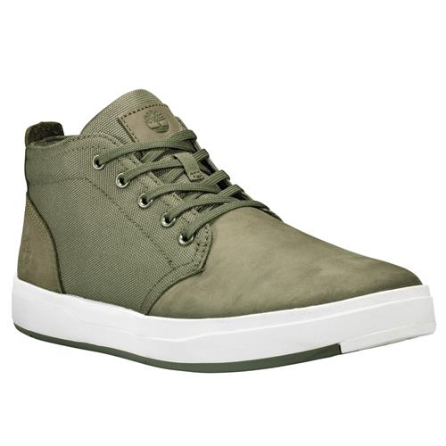 Timberland Davis Square Leather And Fabric Chukka Dark Green Nubuck TB0A1Y9E