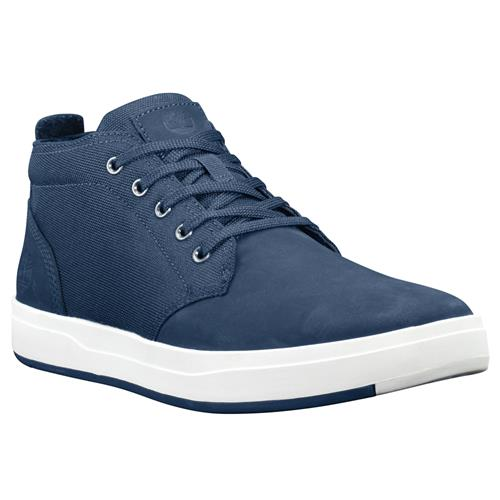 Timberland Davis Square Leather And Fabric Chukka Navy Nubuck TB0A1SF3