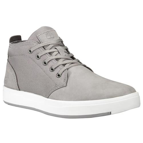 Timberland Davis Square Leather And Fabric Chukka Medium Grey Nubuck TB0A1SES