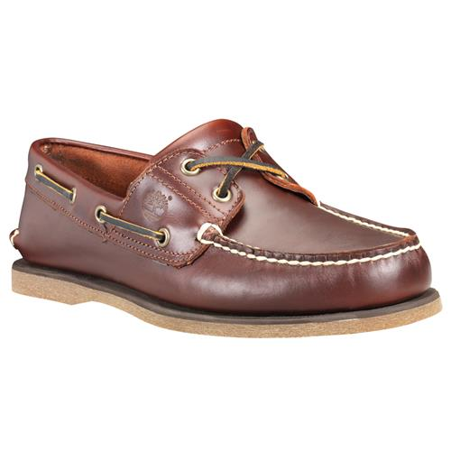 Timberland Mens Classic 2-Eye Boat Shoe Medium Brown 25077214