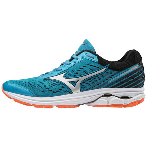 Mizuno Wave Rider 22 Men's Running Blue Jay, Silver 410991.5F73