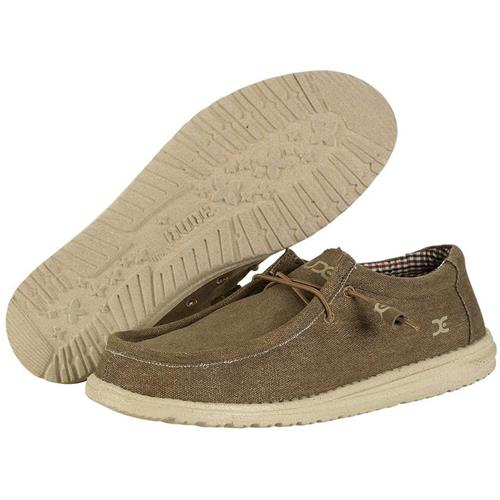 Hey Dude Wally Canvas Mens Nut 110061600