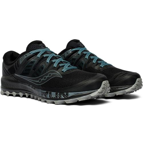 Saucony Peregrine ISO Men's Trail Wide EE Black, Grey S20484-1