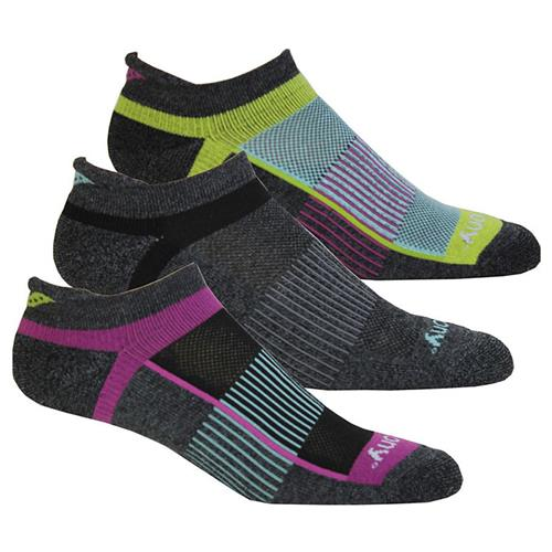 Saucony Inferno No Show Tab Socks Charcoal Assorted M22170-017