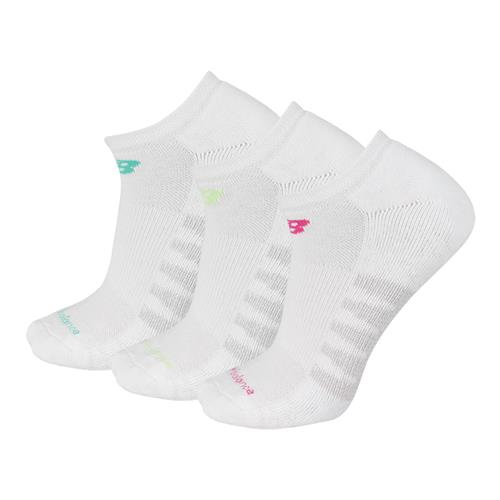 New Balance Core Cotton No Show Women White 3 Pack N5010-362-3