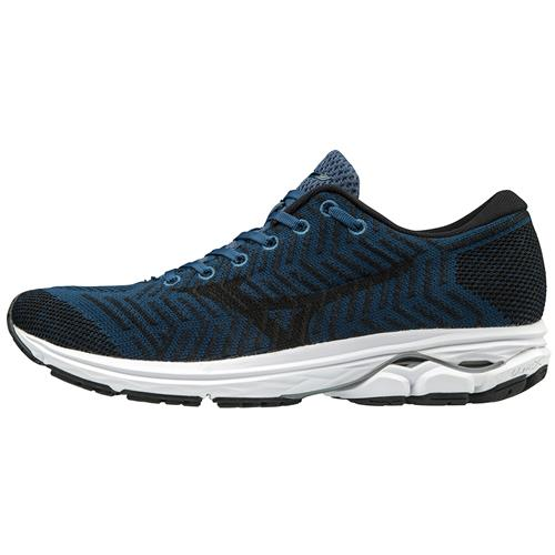 Mizuno WAVEKNIT R2 Men's Running Blue Wing Teal, Black 411002.BW90
